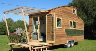 Une maison mobile pour voyager et vivre avec tous les conforts? Cela existe et elle est trop bien à l'intérieur!