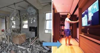 Ecco come una casa di 28 mq può contenere una vasca da bagno, una palestra e un home theatre
