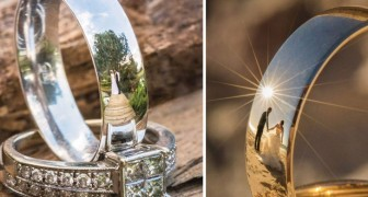 Vuole fotografare gli sposi riflessi sulle fedi: dopo anni di tentativi, il risultato è meraviglioso