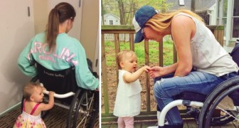 Dieses Mädchen sitzt im Rollstuhl, doch was sie mit ihrer Tochter macht, ist eine Lehre für alle