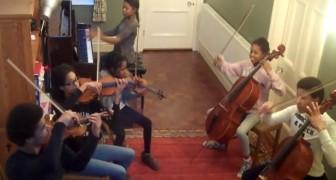 Seis irmãos pegam os seus instrumentos: a performance é demais!
