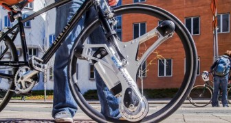 Here is an invention that completely transforms an old bicycle --- in a very easy, fast, and convenient way!