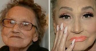 Une dame de 80 ans demande sa petite fille de la maquiller... et sans le savoir, elle devient une star du web