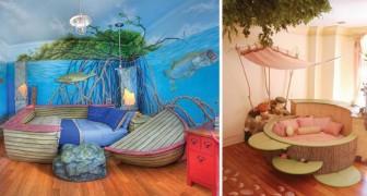 Voici quelques-unes des chambres les plus fantaisistes jamais réalisées: pour une enfance... pleine de fable!