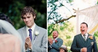Les plus belles réactions qu'ont eu les hommes en voyant leurs femmes arriver en robe de mariée