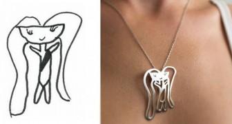 Ces deux artistes transforment les dessins des enfants en de magnifiques bijoux