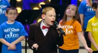 A blind and autistic boy sings ---- and moves everyone with his impressive exhibition!