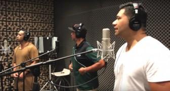Los 3 hombres tienen una voz que es de locos, pero cuando cantan todos juntos? WOW!