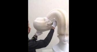 Li Hongbo y sus esculturas hechas de papel