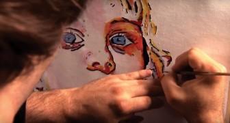 Dopo aver perso la vista, questo artista ha sviluppato una tecnica di pittura impressionante