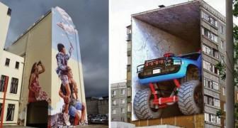 14 Street Art meesterwerken die bijna niet van echt zijn te onderscheiden