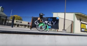 Freestyle on a wheelchair. Incredible!