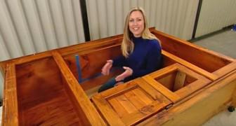 Transforme a mobília velha para TV em um brinquedo para seus filhos!