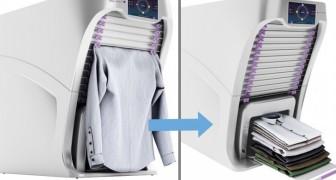 Het strijkijzer gaat met pensioen: zie hier de machine die desinfecteert, strijkt en kleren vouwt