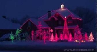 La spettacolare casa natalizia