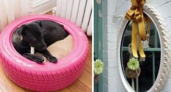12 moyens astucieux pour transformer les pneus en un bel objet déco