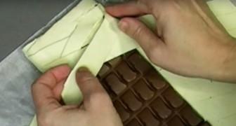 Coloca uma barra de chocolate inteira dentro da massa folhada: quando tira do forno, o resultado é uma delícia!!!