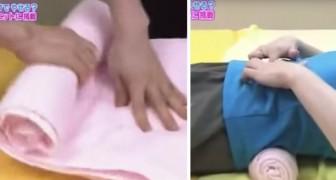 O método japonês para acabar com a dor nas costas usando uma simples toalha