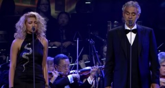 Tenor Andrea Bocelli and singer Tori Kelly --- A thrilling duet!