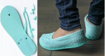 Wie man aus einer Flip Flop Sohle einzigartige Sandalen machen kann