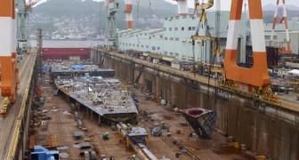 Como é construído um navio de 600 milhões de euros? Este vídeo nos mostra!