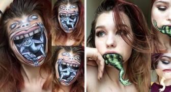 A soli 19 anni realizza opere di make-up dal realismo sconcertante