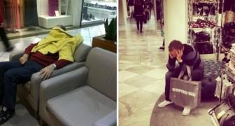 20 foto esilaranti delineano alla perfezione la tragedia dello shopping... al maschile!