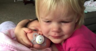A child wakes up crying --- but look what happens next!