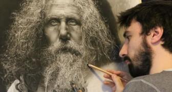 Er mischt Hyperrealismus mit der Ästhetik der Renaissance: Seine Zeichnungen sind einzigartig