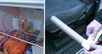 8 usi insospettabili della carta da cucina... E del tubo di cartone interno