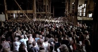 1500 coristas cantan un famosisimo tema: lo que sale afuera es de una belleza sublime