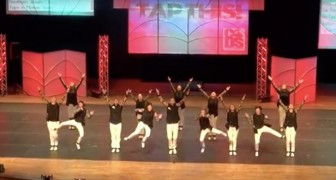 World championship tap dancing --- their footwork is superhuman!