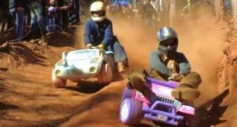 la corsa con le baby Jeep