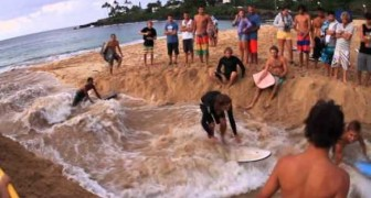 Impressive way to create waves