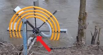 Este es un metodo ingenioso para sacar agua del rio SIN usar energia electrica