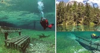 Im Winter geht man dort spazieren, im Sommer tauchen: Das ist der See, der sich nur für 4 Monate des Jahres füllt