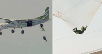 Il se lance de 7000 mètres sans parachute et atterri sur une toile : la vidéo va vous donner des frissons.