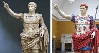 zo zagen de marmerbeelden er echt uit in de klassieke oudheid