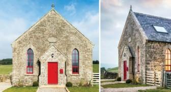 Un team di architetti trasforma una cadente chiesetta del XIX secolo in una casa vacanze da sogno
