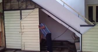 No tenia lugar para un garage, pero logra encontrar una solucion de verdad genial