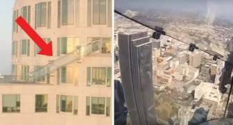 No imaginaran nunca que cosa han instalado a 300 metros de altura sobre este edificio