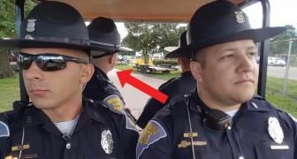 4 politieagenten in dienst: als de muziek begint te spelen, is het lachen en gieren geblazen!