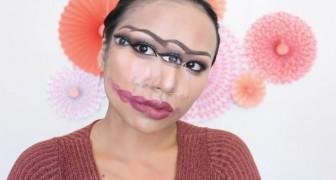 So kreiert diese junge Frau ein Make-up, das eine optische Täuschung erschafft.