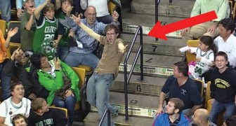 Half-time interval music --- see the WILD reaction of this guy!