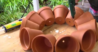 Create garden art with terracotta pots!