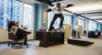 Skateboard au bureau