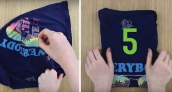 Comment plier un T-shirt en moins de 5 secondes