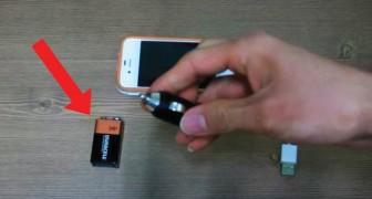 Så här kan du ladda din mobil med ett vanligt batteri