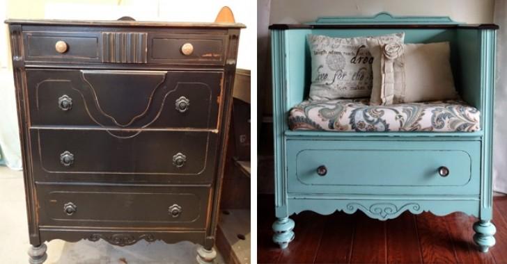15 idee per trasformare vecchi mobili il risultato irriconoscibile - Idee per recuperare vecchi mobili ...