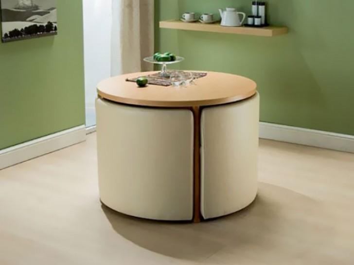 Tavolo E Sedie A Scomparsa.Ikea Tavoli Con Sedie Incorporate Archimede Bianca Consolle Tavolo